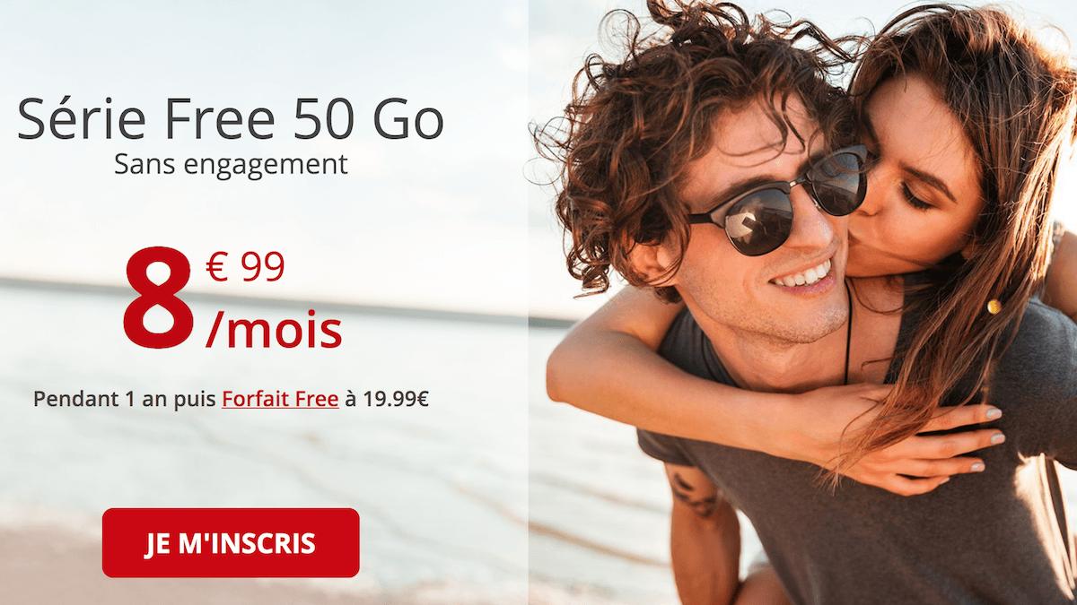 Le forfait en promo de Free pour 50 Go
