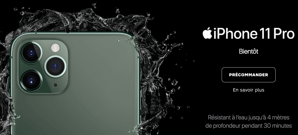 précommander iPhone 11 Pro