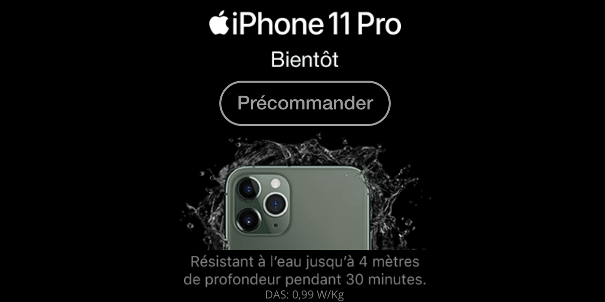 iPhone 11 précommande.