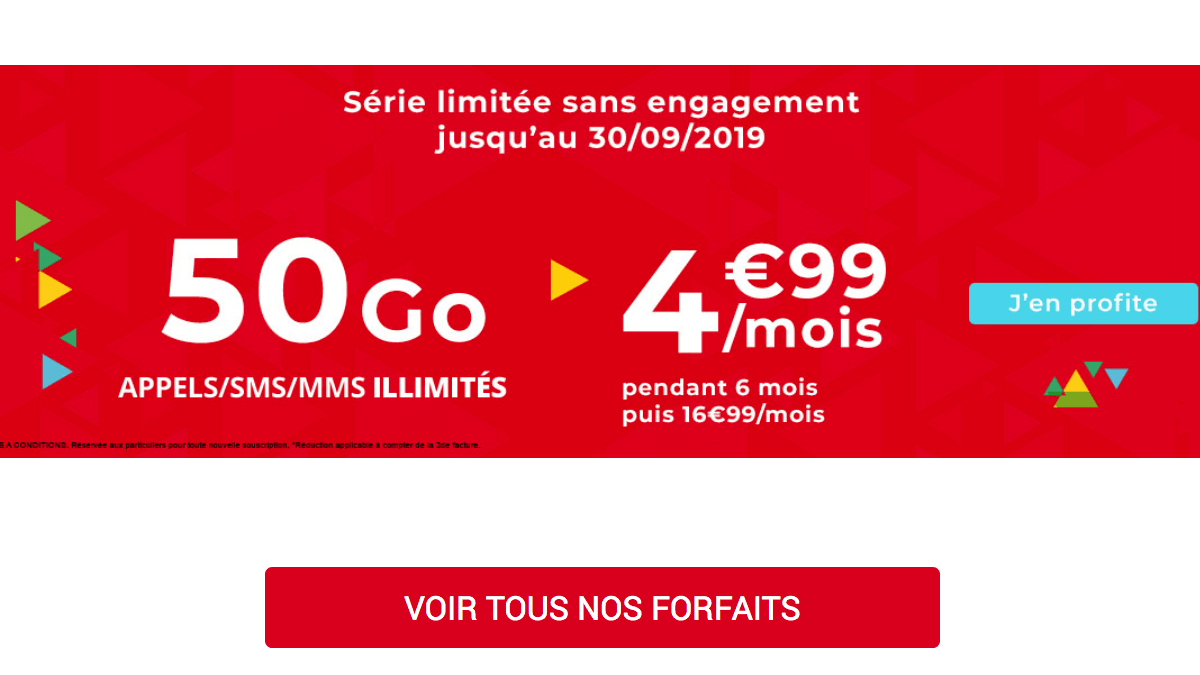 promo Auchan Telecom forfait 4G.