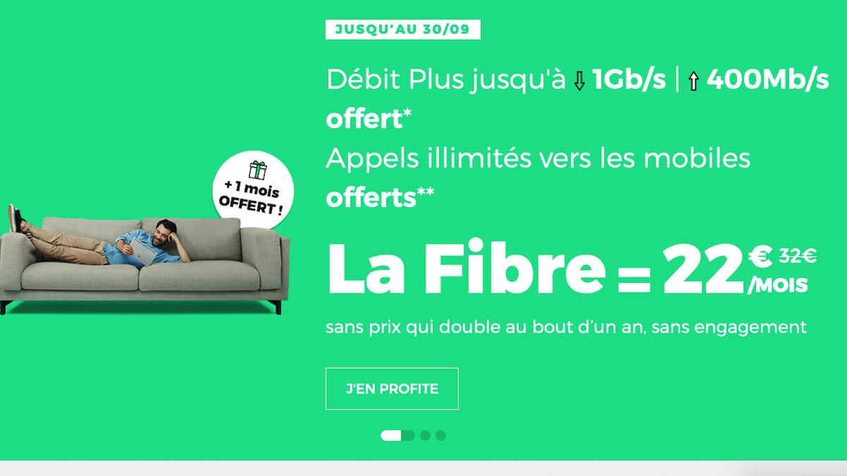 Box fibre optique promo red by sfr