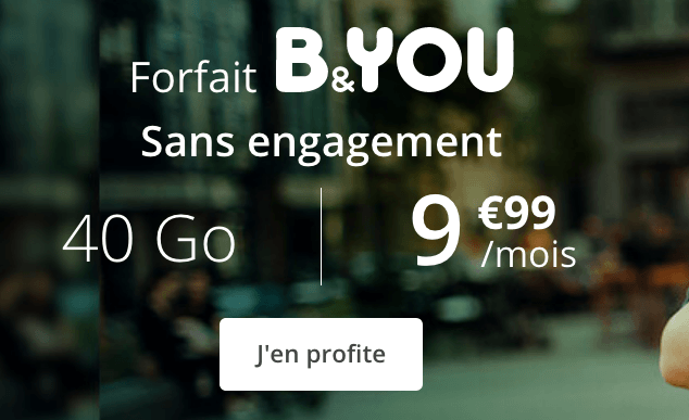 Forfait 4G en promo chez B&YOU.