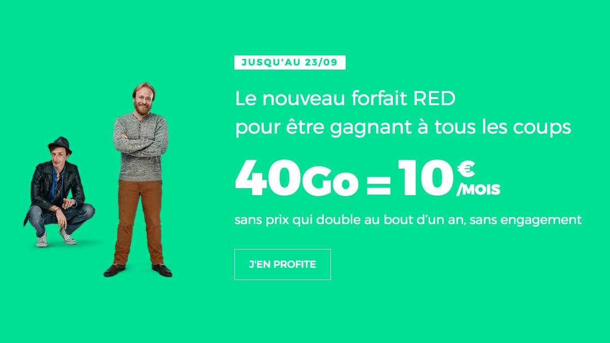 Forfait mobile illimité en promotion chez RED by SFR.