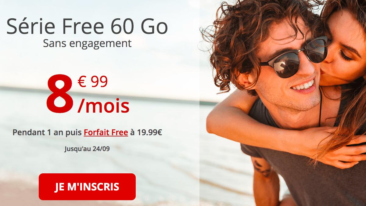 le forfait mobile de Free en promo