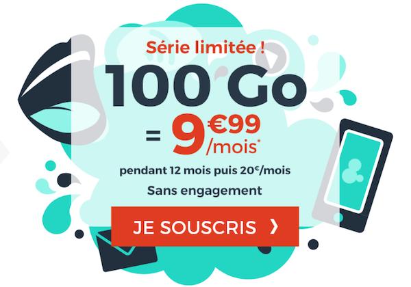 100 Go à moins de 10€ avec le forfait 4G en promo de Cdiscount Mobile