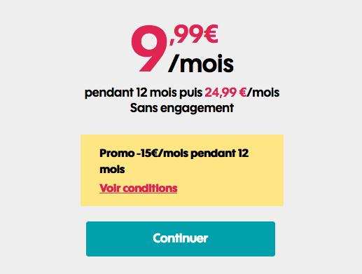Forfait 50 Go de Sosh en promotion.