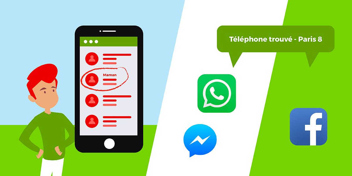 Contacter les proches d'un téléphone perdu