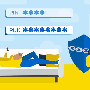 Code PUK La Poste Mobile débloquer carte SIM.