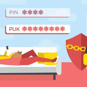Carte SIM bloqué insérer code PUK.