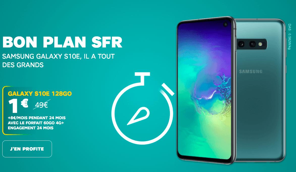 Le Samsung Galaxy S10e avec SFR