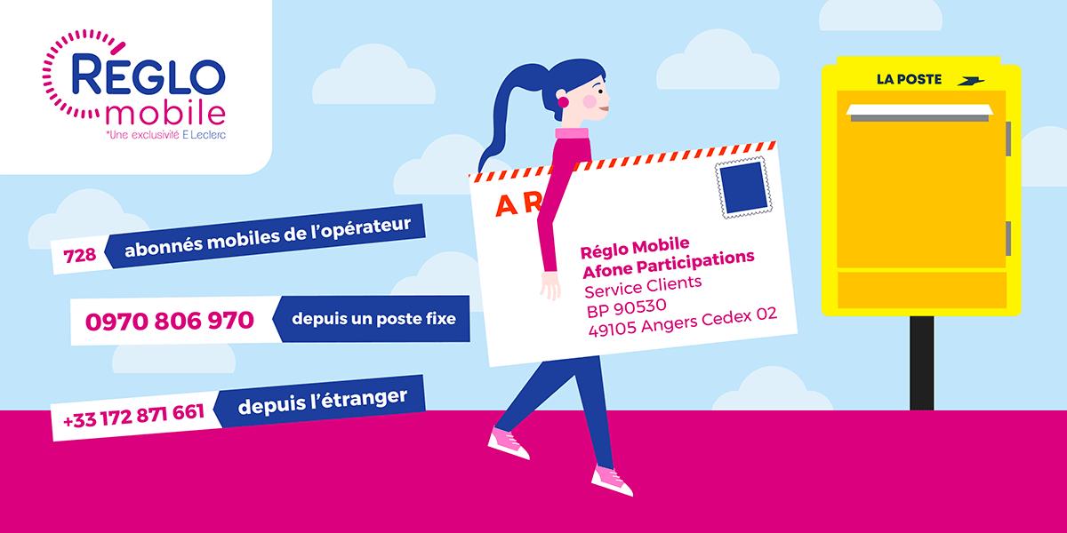 Adresses service client Réglo Mobile.