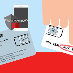 Code PUK support carte SIM.