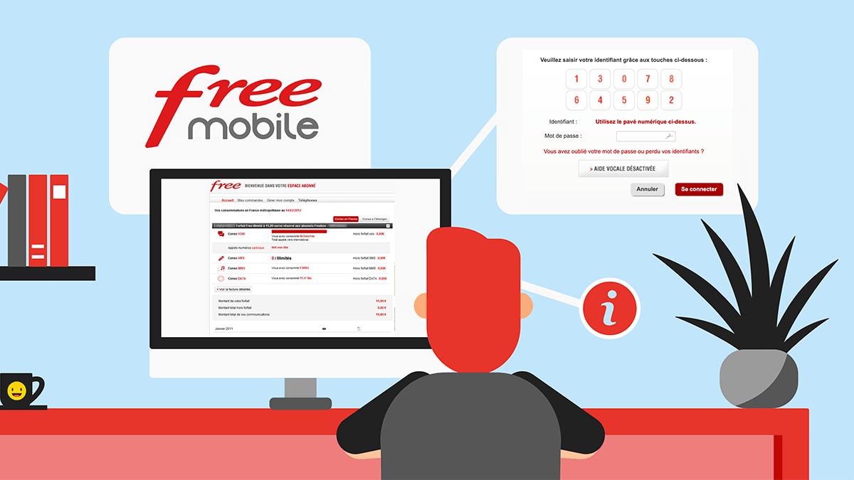 comment se connecter sur free mobile