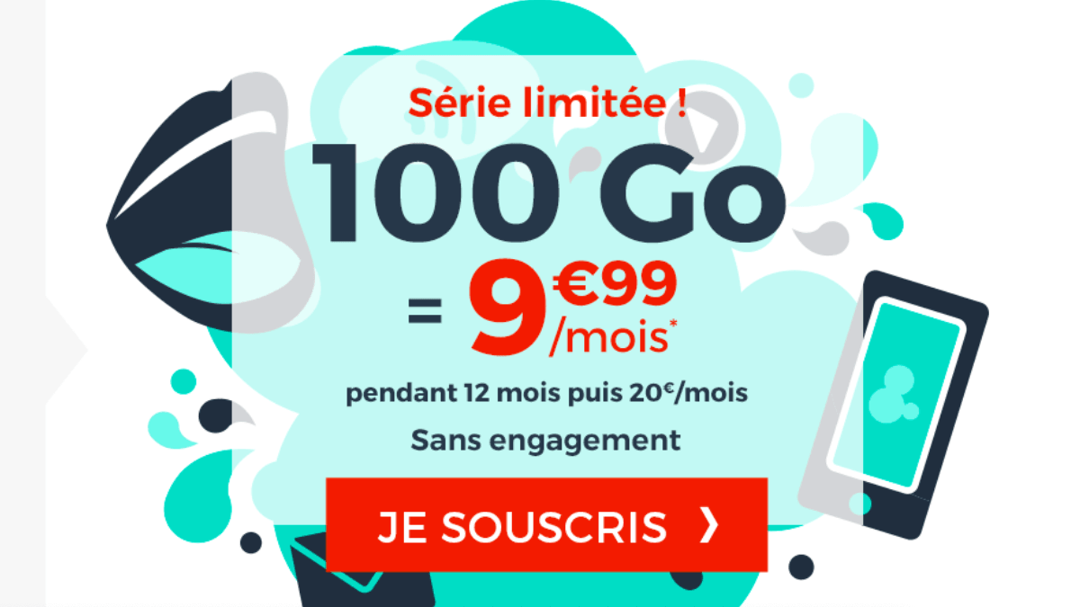 La promotion Cdiscount Mobile pour un forfait 100 Go