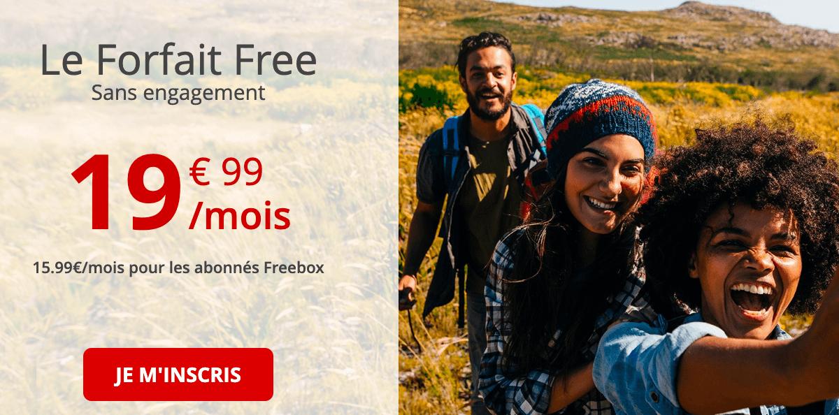 La proposition de Free pour un forfait 100 Go à moins de 20€