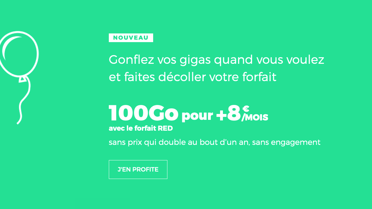 Forfait 100 Go promo RED by SFR.