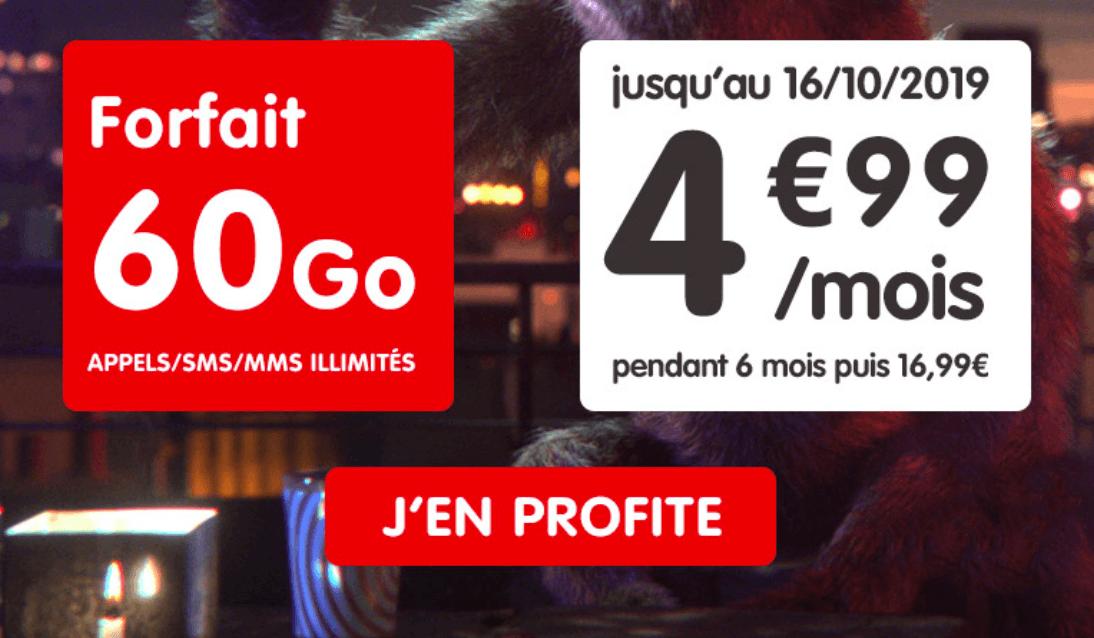 forfait mobile illimité NRJ