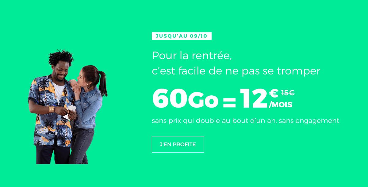le forfait 4G de RED by SFR