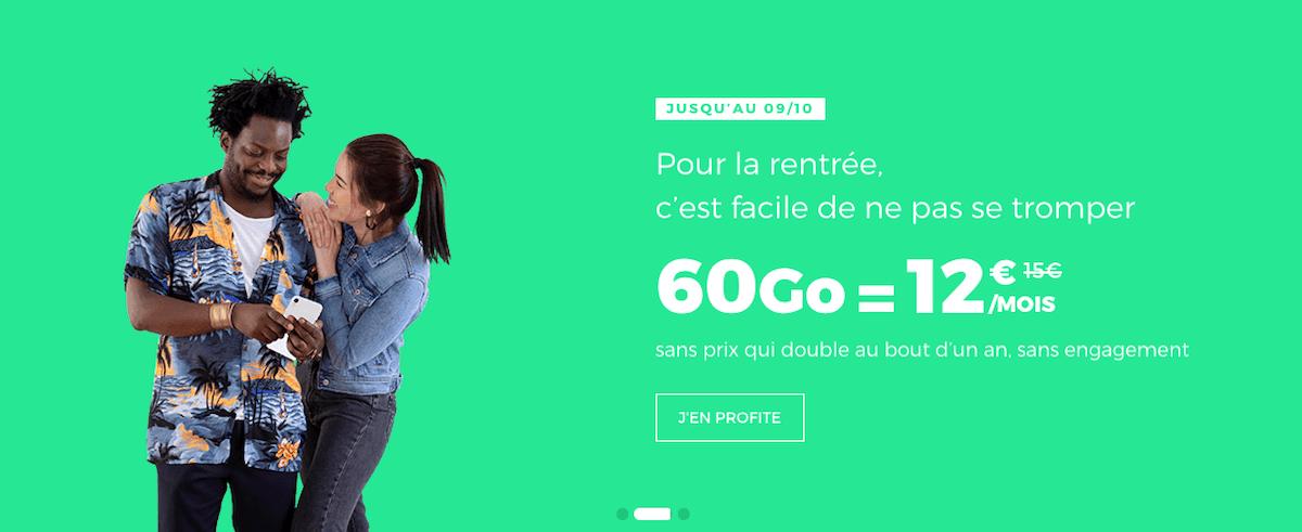 Le forfait 4G en promotion dans le catalogue de RED by SFR