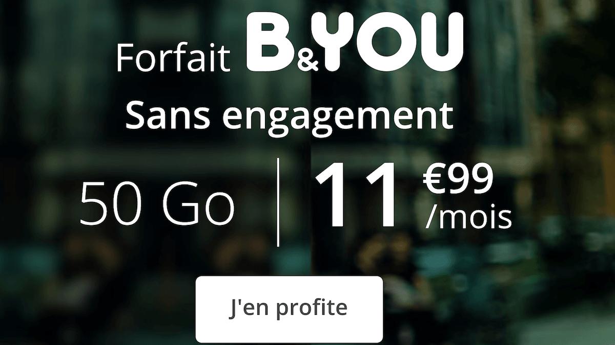 La promo B&YOU pour un forfait 4G pas cher