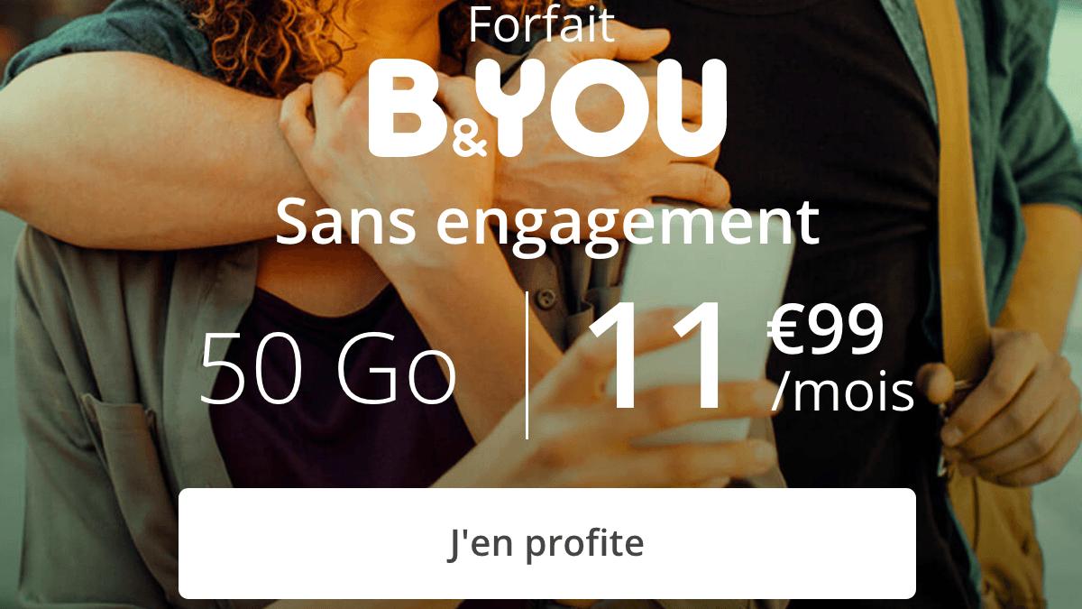 Forfait 4G en promotion chez B&YOU.