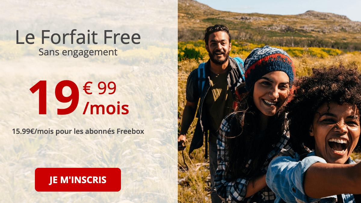 Forfait Free 4G.