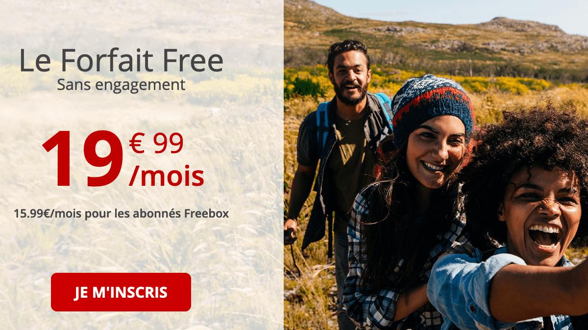 Free forfait 4G illimitée.