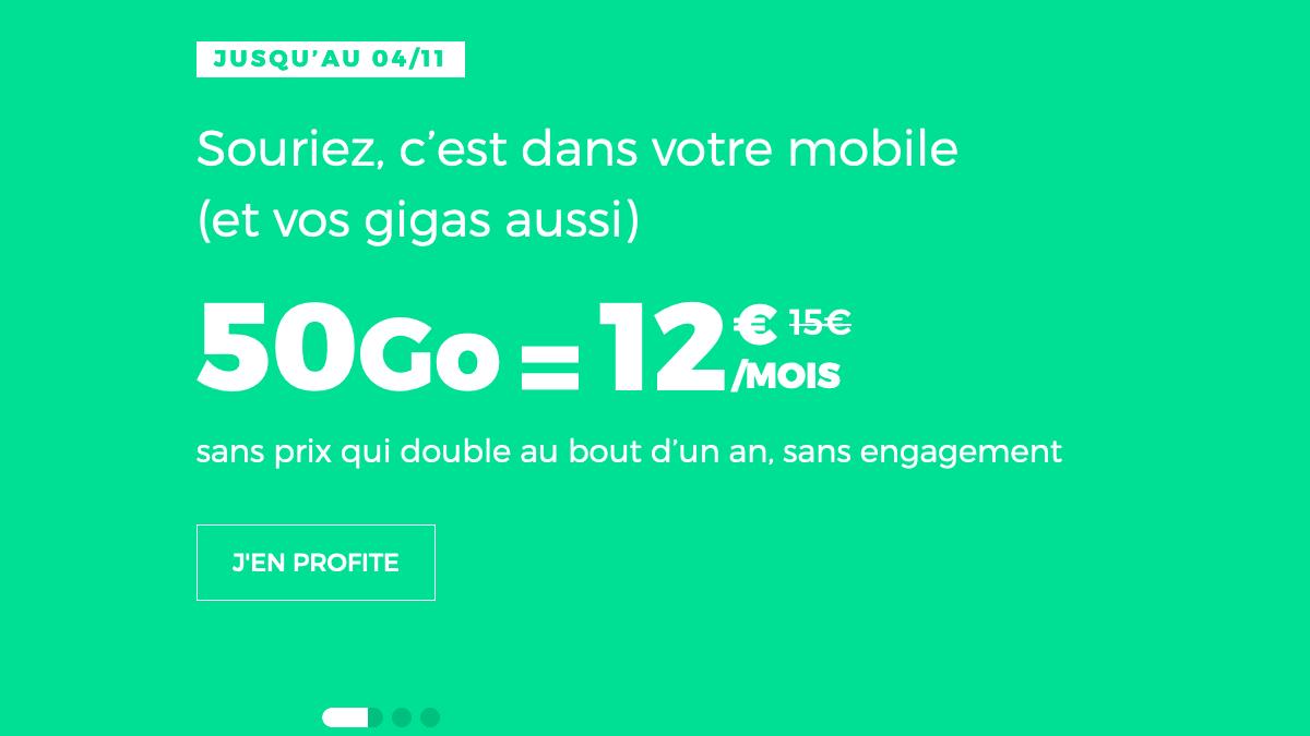 forfait riche en données mobiles chez RED by SFR.