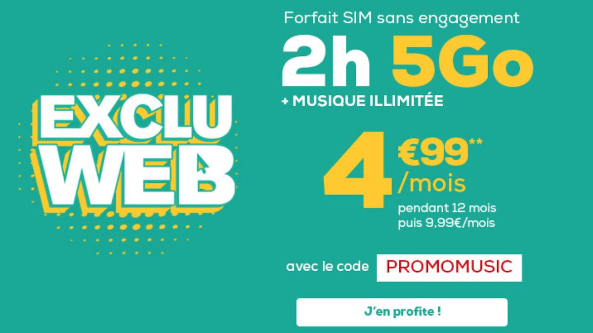 Le forfait 5 Go de La Poste Mobile
