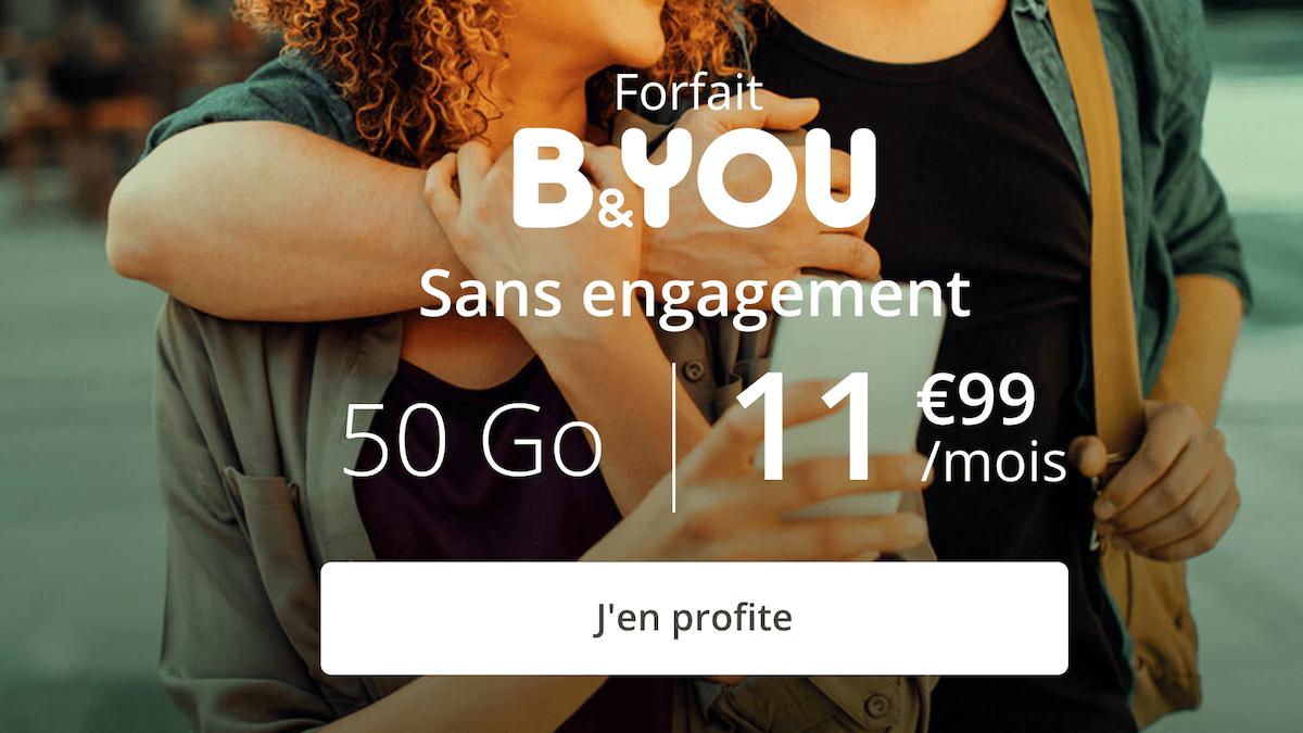 La première promotion B&YOU sur un forfait 4G