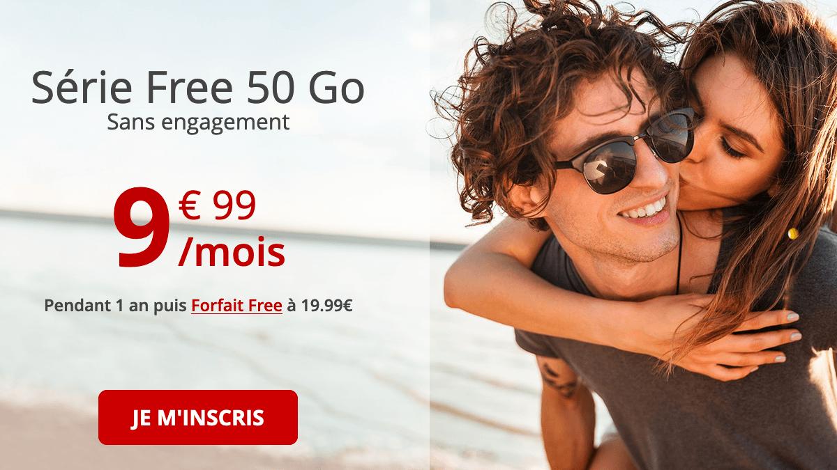 Promo Série Free 60 Go forfait 4G.