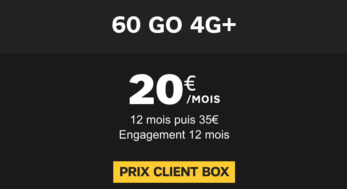 Le forfait 60 Go mis en avant par SFR