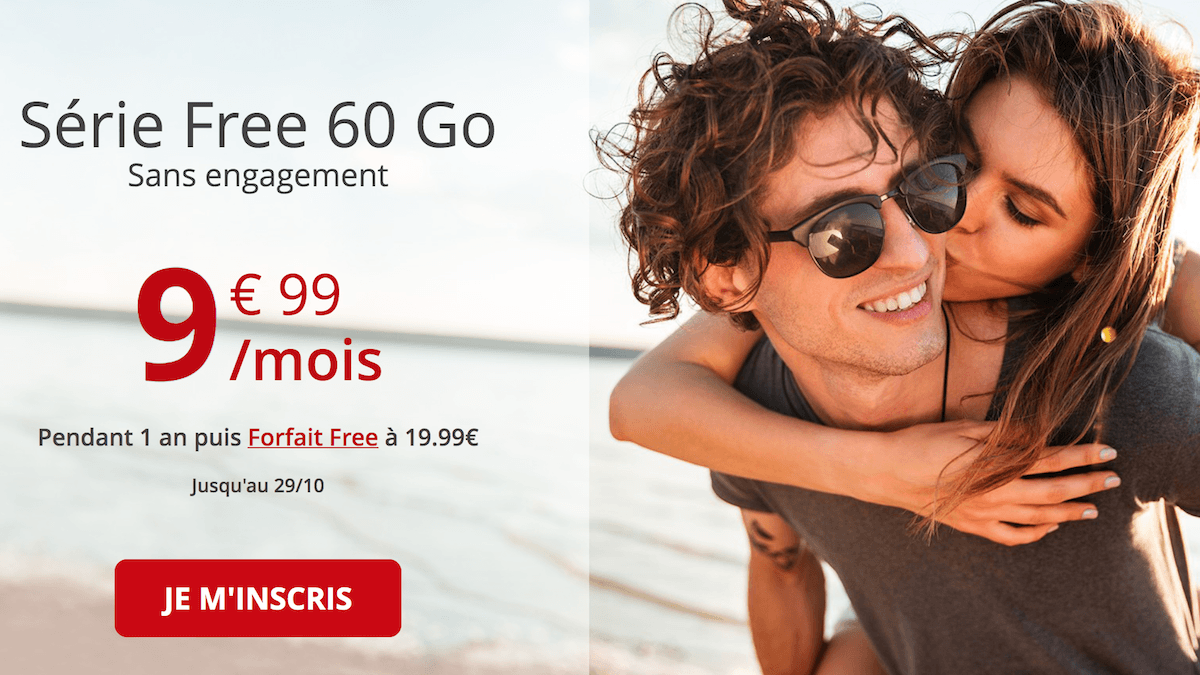La série spéciale Free mobile pour un forfait 60 Go à 9,99€