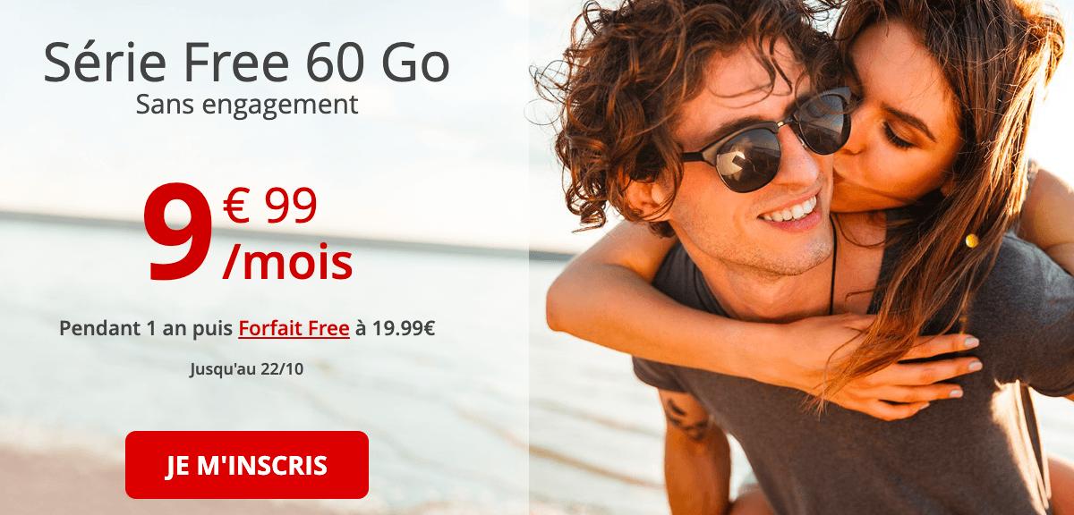 La série spéciale Free mobile pour un forfait 60 Go en réduction
