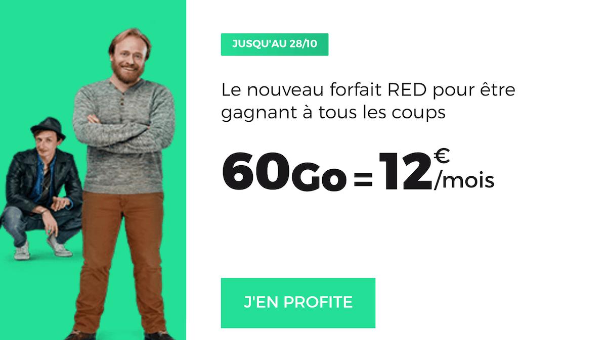 Le forfait 60 Go proposé en ce moment par RED by SFR