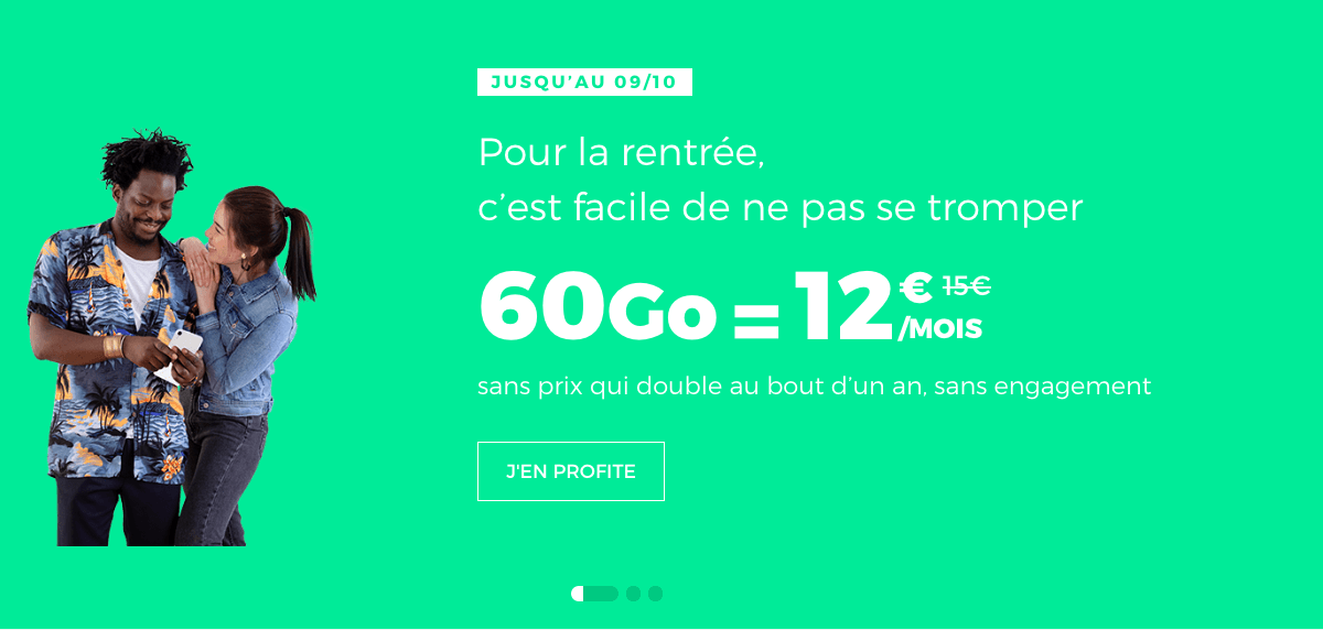 le forfait 60 Go de RED by SFR