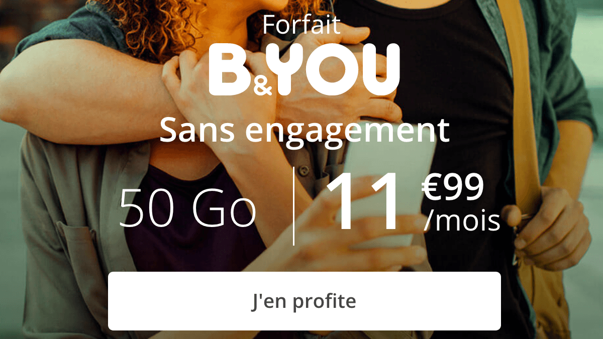 B&YOU 50 Go promo forfait 4G