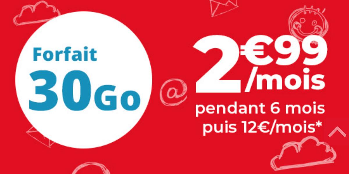 La promotion d'Auchan Telecom pour un forfait 30 Go à moins de 5 euros