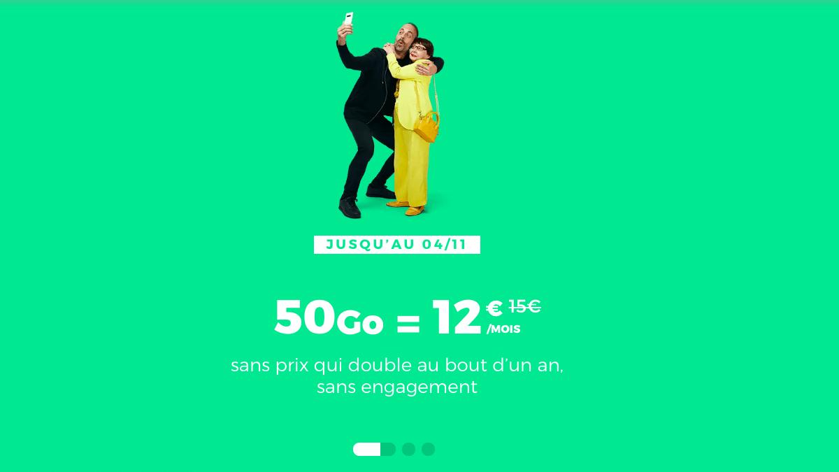 Le forfait 50 Go proposé par RED by SFR en promotion