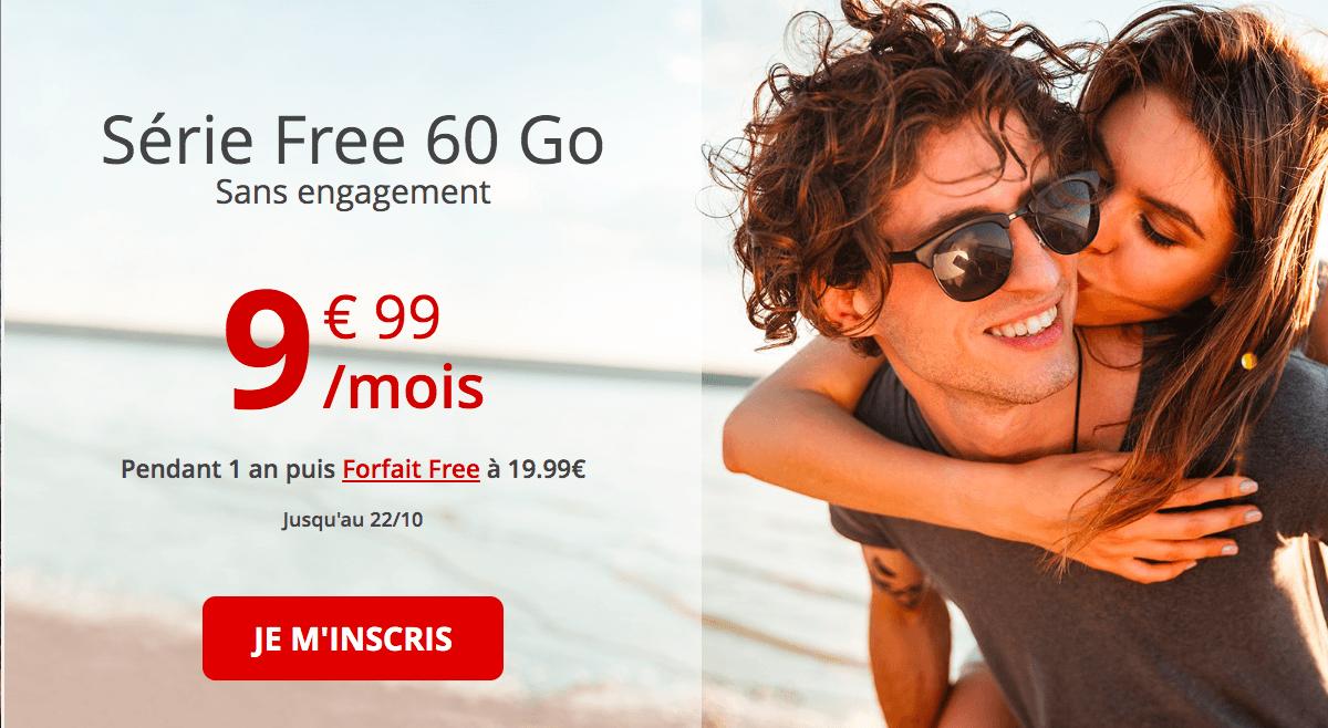 le forfait 60 Go de Free mobile