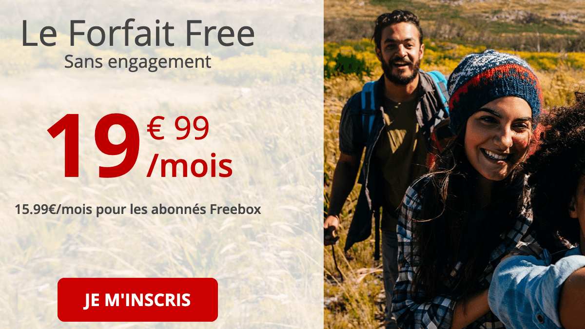Forfait 4G international de Free.