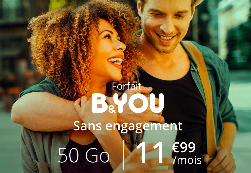 le forfait mobile B&YOU en promo