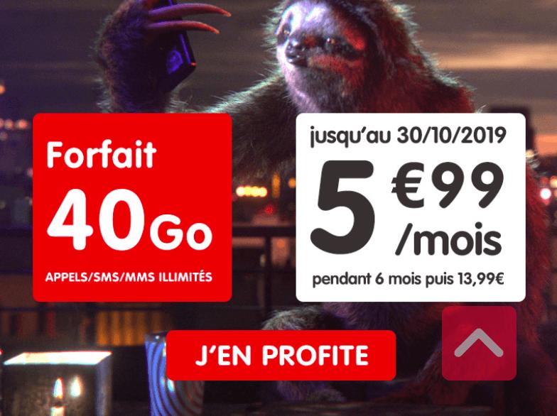 forfait 40 Go NRJ