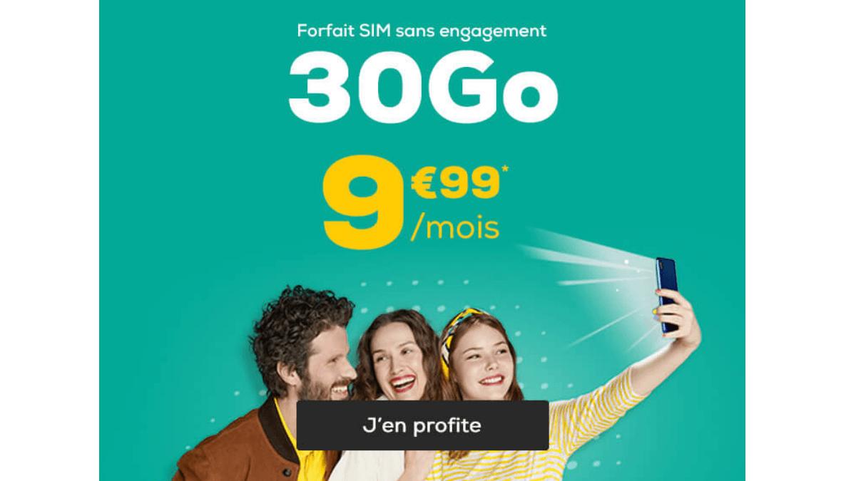 La Poste Mobile forfairt 30 Go pas cher.
