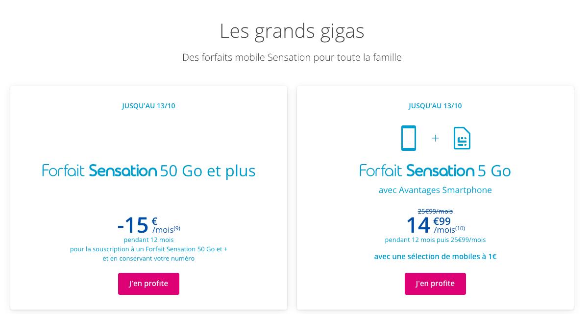 les promotions de Bouygues Telecom