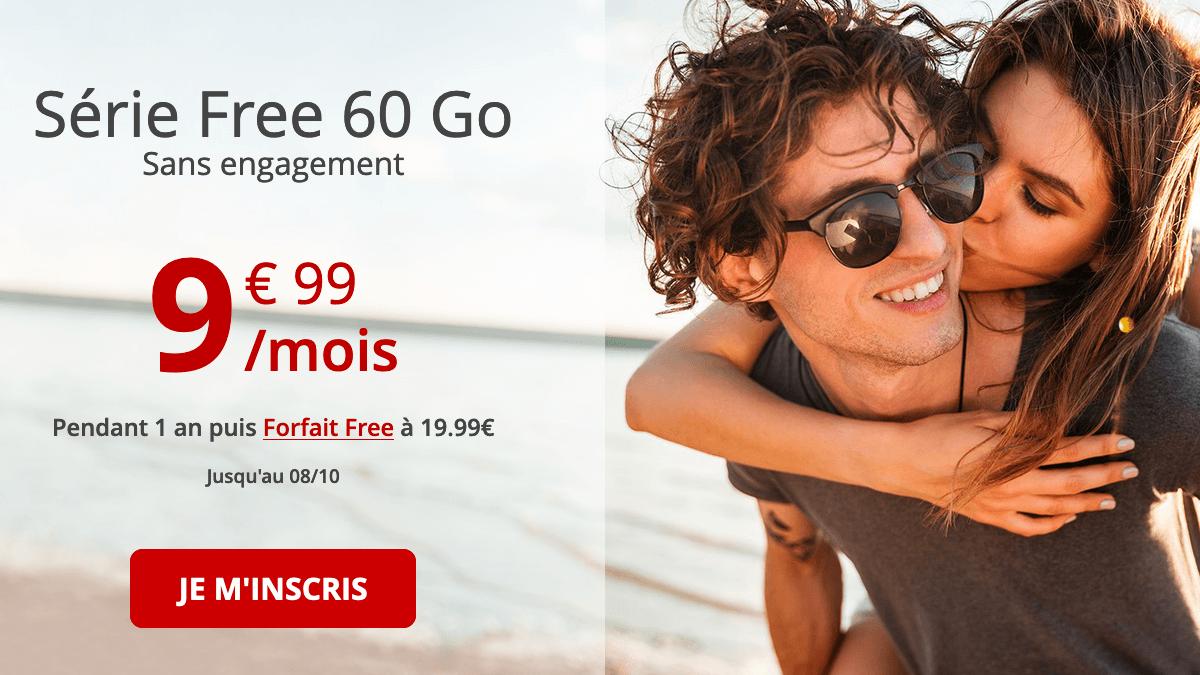Série Free 60 Go promo forfait 4G.