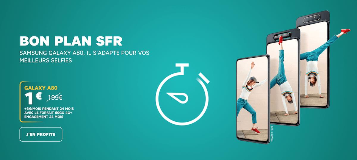 Le bon plan SFR du moment pour un Samsung Galaxy A80 pas cher