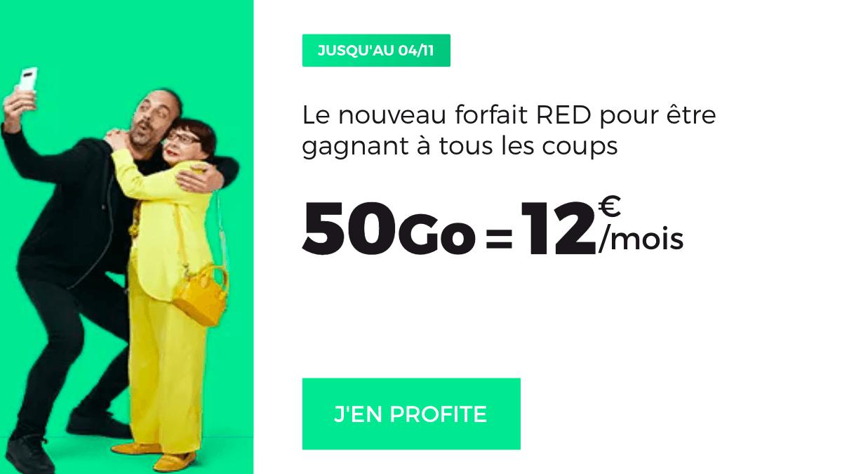 Le forfait sans engagement de RED by SFR à 12€/mois