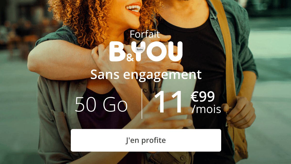 B&YOU forfait mobile 4G.