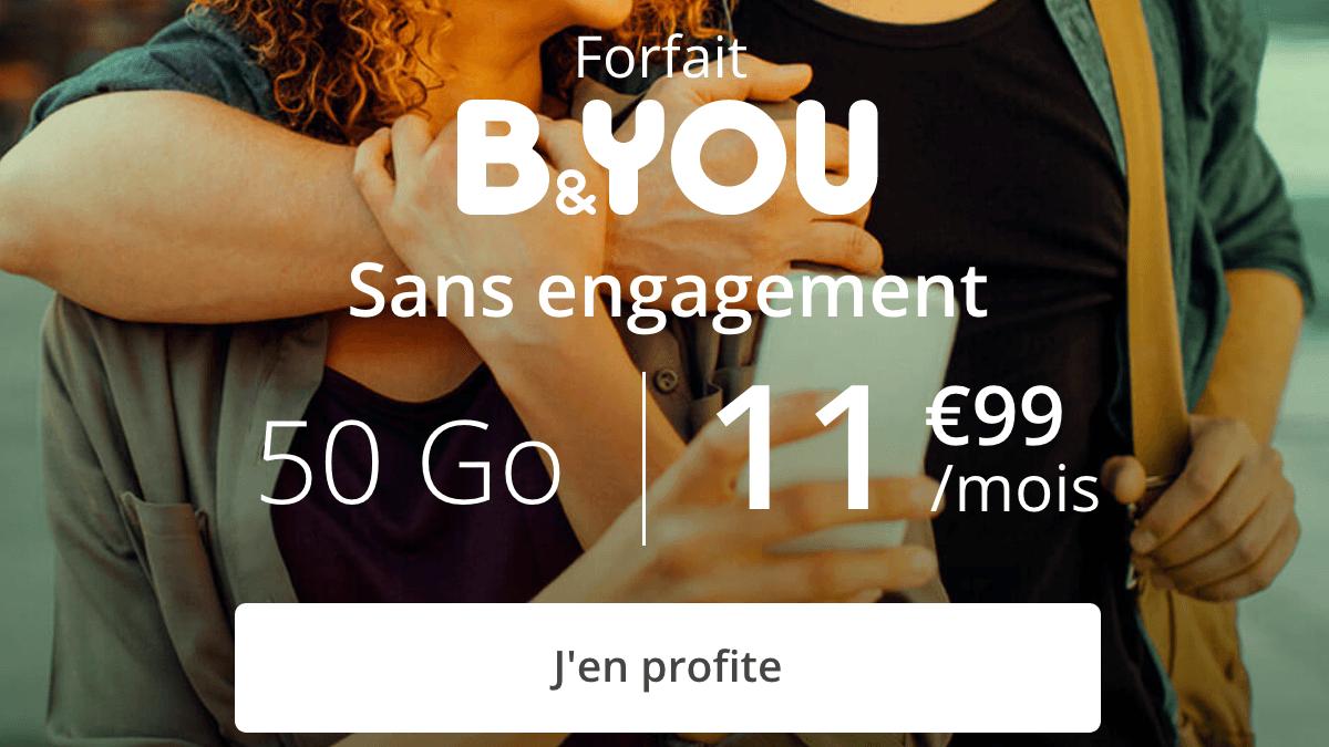 Promo forfait 4G B&YOU.